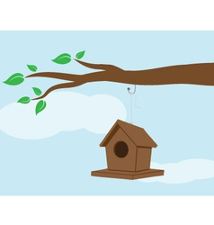 bird house vector image