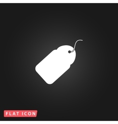 Tag flat icon vector