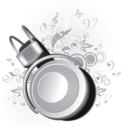 Headphones on a background vector