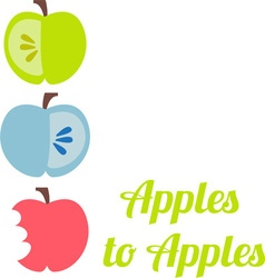 Apples to apples vector