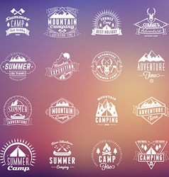 Set of summer holidays design elements hipster vector
