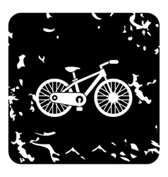 Bike icon grunge style vector image