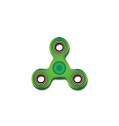 Bright green spinner with shadow on white vector