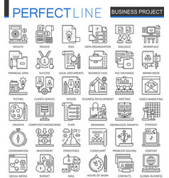 Business project outline concept symbols strategy vector
