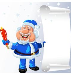 cartoon santa claus vector image vector image