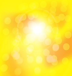 Centered yellow orange summer sun light burst vector image