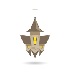 Church isolated on a white backgrounds vector image vector image