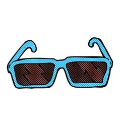 Comic cartoon sunglasses vector