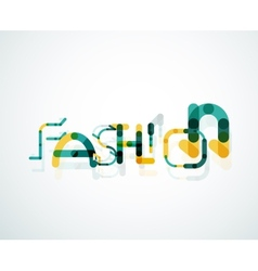 Fashion word font concept vector image