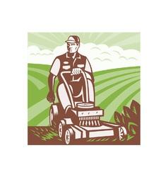Gardener landscaper vector