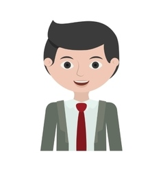 Half body man young with formal suit vector