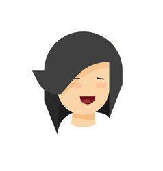 Happy woman or girl face with smile vector