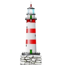 Isolated lighthouse vector
