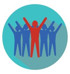 Leadership concept team success vector