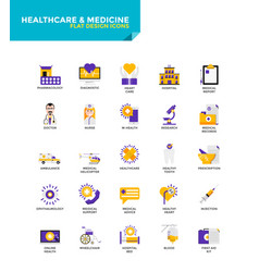 modern material flat design icons - healthcare vector image vector image