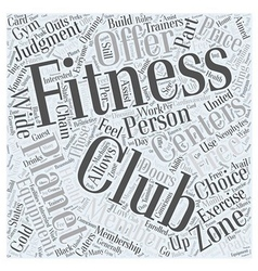 Planet fitness word cloud concept vector