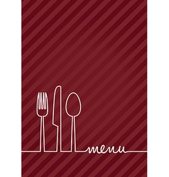red a4 menu vector image vector image