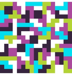 seamless background tetris game vector image vector image