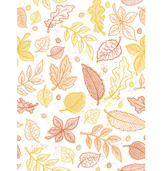 seamless pattern from doodle hand drawn vector image vector image