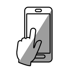 Smartphone hand touch payment digital shadow vector