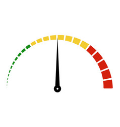 speed metering icon scale meter broken sectors vector image