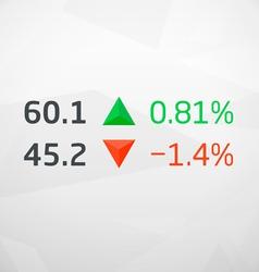 Stock market data with arrows vector