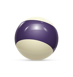 Striped ball 3d Sphere with Texture Ball isolated vector image vector image