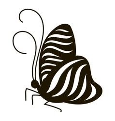 Stripped butterfly icon simple style vector