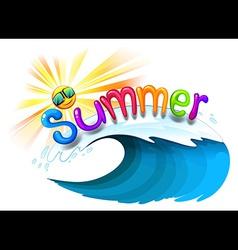 Summer artwork vector image vector image
