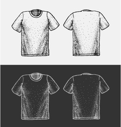 T-shirt Sketch vector image