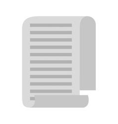 taxes paper receipt icon vector image vector image