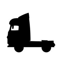 Truck silhouette vector