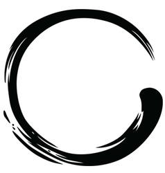 Zen Circle Black Ink Paintbrush vector image