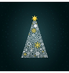 Christmas tree4 vector image