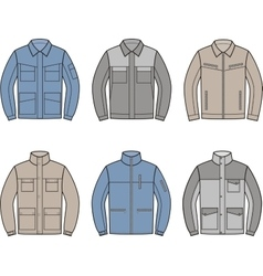 Work jacket set vector image