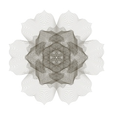 Geometric ornament guilloche rosette vector