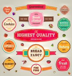 Retro label set vector