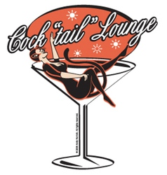 Cocktail lounge vector image