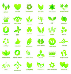ecology icon set vector image