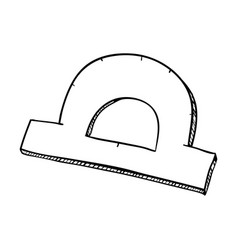 Line protractor ruler tool to study vector
