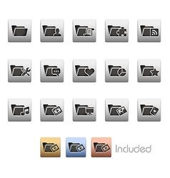 Folder Icons 2 vector image