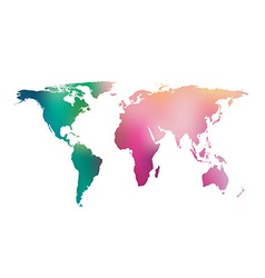 Gradient world map vector