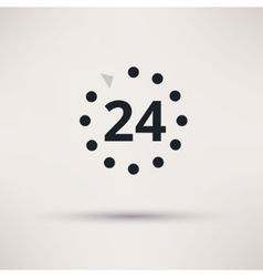 24 hours icon on light background vector