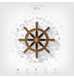 Wheel web iconbackground wit application symbols vector