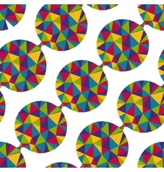 Geometric seamless pattern with gems vector