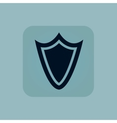 Pale blue shield icon vector