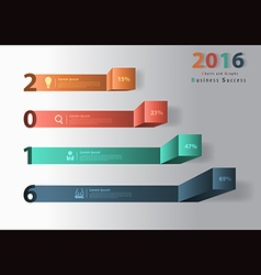 2016 new year modern business steps to success cha vector