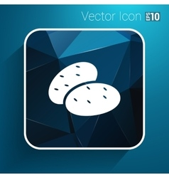 Icon potato isolated vegetarian chips meal ripe vector