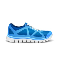 Blue sport shoes for running vector