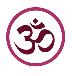 The hinduism symbols om design vector